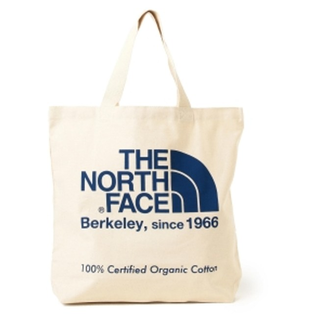 THE NORTH FACE / オーガニックコットン トートバッグ メンズ トートバッグ ナチュラルxソーダライトブルー ONE SIZE