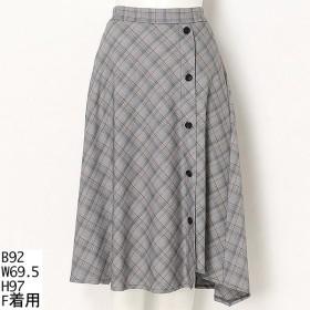 [マルイ]【セール】【大きいサイズ】ロングチェック スカート/ラクープ(LACOUPE)