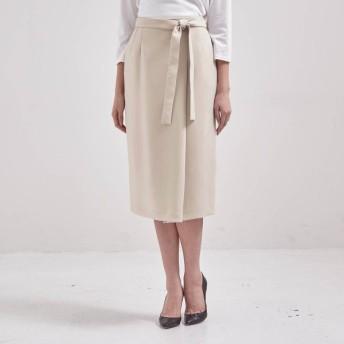 ロングスカート レディース 40代 30代 春 スカート 日本製 おしゃれ きれいめ エレガント ベージュ
