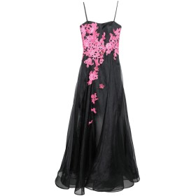 《送料無料》ANDREA MIRAMONTI レディース ロングワンピース&ドレス ブラック 42 ポリエステル 100%