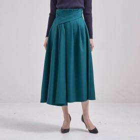 ロングスカート レディース 40代 30代 春 スカート ロング おしゃれ きれいめ エレガント グリーン