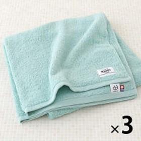 【ロハコ限定オリジナルタオル】LOHACO Basic towel バスタオル エメラルドオーシャン 約65×130cm 3枚 今治タオル