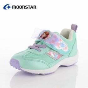 moonstar ムーンスター DN C1227 ディズニープリンセス ソフィア キッズ ベビー カジュアルシューズ 子供靴 2E ミント 水色