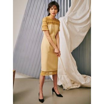 [LAGUNAMOON]LADYフリンジレースタイトドレス