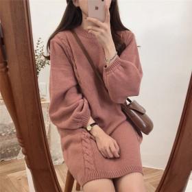 【韓国人気商品!!★超目玉★】韓国ファッション CHIC気質 ニット セーター ワンビース