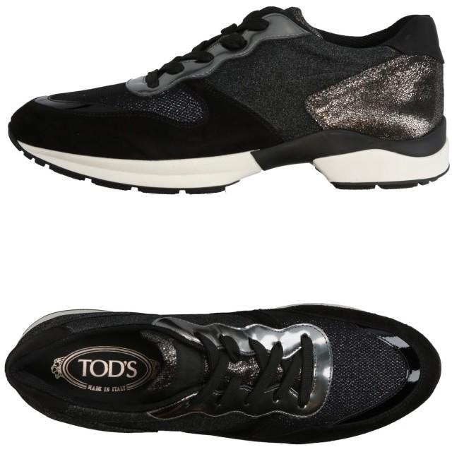 《セール開催中》TOD'S レディース スニーカー&テニスシューズ(ローカット) ブラック 41 革 / 紡績繊維
