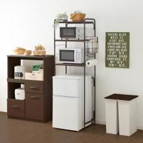 キッチンラック レンジラック 冷蔵庫ラック アイリスオーヤマ レンジ キッチン 収納 収納棚 ラック 新生活 一人暮らし スタイル冷蔵庫ラック (送料無料) (252624)