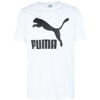 《期間限定セール開催中!》PUMA メンズ T シャツ ホワイト S コットン 100% Classics Logo Tee