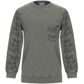 《期間限定 セール開催中》BERNA メンズ スウェットシャツ ミリタリーグリーン S コットン 100%