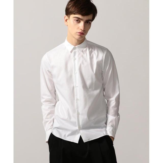 トゥモローランド ストレッチ スリムフィット レギュラーカラーシャツ メンズ 11ホワイト 2 【TOMORROWLAND】
