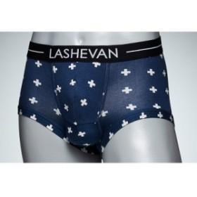 セール SALE LASHEVAN ラシュバン Mens Underwear Cross Blue 即日発送 返品・交換対象外 メンズ アンダーウェア ボクサーパンツ 下着 [L