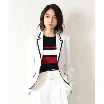 ラブレス WOMEN リネンライクホワイトパイピングジャケット レディース ホワイト2 34 【LOVELESS】