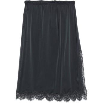 《9/20まで! 限定セール開催中》ICONS レディース 7分丈スカート ブラック 40 シルク 100% / コットン / ナイロン