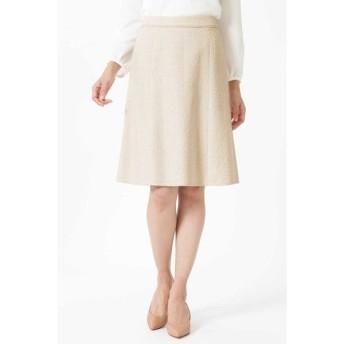NATURAL BEAUTY / シフォン使いツイードスカート