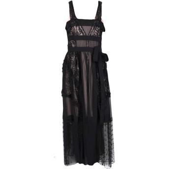 《セール開催中》SILVIAN HEACH レディース ロングワンピース&ドレス ブラック XS ポリエステル 100% / ナイロン / ポリウレタン
