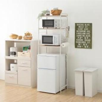 冷蔵庫ラック 収納 収納棚 ラック アイリスオーヤマ スタイル冷蔵庫ラック SRR-580 ホワイト (252623)