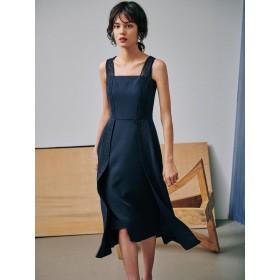 [LAGUNAMOON]LADYチュールレースストラップドレス
