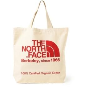 THE NORTH FACE / オーガニックコットン トートバッグ メンズ トートバッグ ナチュラルxTNFレッド ONE SIZE
