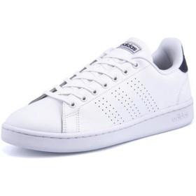 adidas(アディダス) ADVANCOURT LEA U メンズスニーカー(アドバンコートレザーU) F36423 ランニングホワイト/ランニングホワイト/ダークブルー ローカット