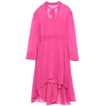 《セール開催中》CEDRIC CHARLIER レディース ミニワンピース&ドレス フューシャ 40 アセテート 50% / シルク 27% / ナイロン 23%