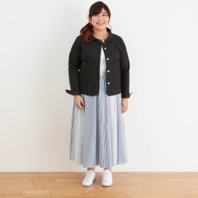 ロングスカート レディース 大きいサイズ 40代 30代 春 スカート マキシ丈 おしゃれ きれいめ エレガント ブルー×オフホワイト 4L 5L 6L
