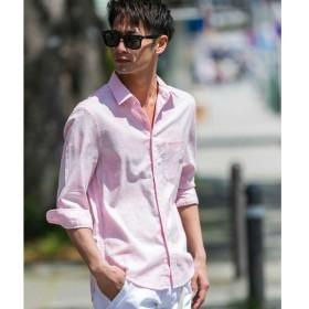 [マルイ]【セール】ストレッチ麻/パイナップルプリントシャツ(2/3袖)/A・S・M(A.S.M)