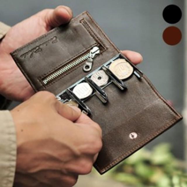 cd40c6c9264c Costa Liberta コスタリベルタ コインキャッチャー付きコンパクト財布 CL012(ブラック/黒/ブラウン