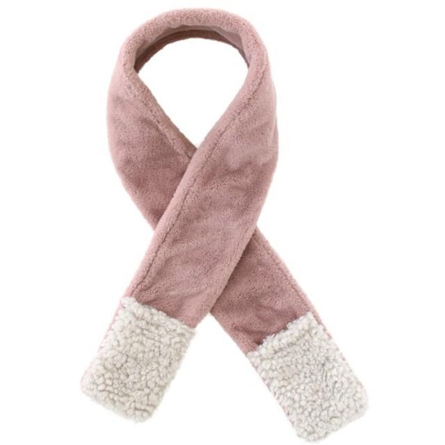 ストール レディース ポケット付であたたかい フェイクファーストール カラー 「ピンク」