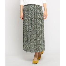 THE SHOP TK(Women)(ザ ショップ ティーケー(ウィメン)) 総柄シフォンプリーツスカート