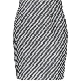 《期間限定セール開催中!》ANNIE P. レディース ひざ丈スカート ブラック 40 レーヨン 80% / 麻 20%
