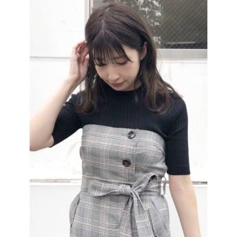 [MERCURYDUO]袖付チェンジリブニット