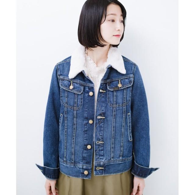 ハコ Lady Lee フェイクファー付きデニムジャケット レディース インディゴブルー S 【haco!】