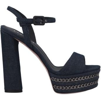 《期間限定 セール開催中》LE SILLA レディース サンダル ブルー 38 紡績繊維