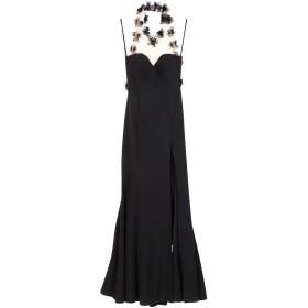 《セール開催中》SOANI レディース ロングワンピース&ドレス ブラック 46 ポリエステル 100%