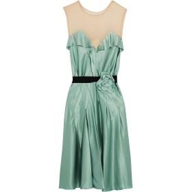 《セール開催中》LANVIN レディース 7分丈ワンピース・ドレス ターコイズブルー 34 100% シルク