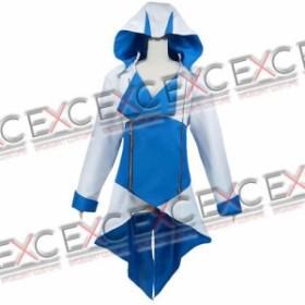 アサシンクリード3 コナー ジャケット(青白) 風 コスプレ衣装