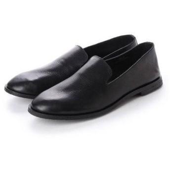 ビカーシ BICASH クレープソールレザースリッポンシューズ (BLACK (BLACK SOLE))