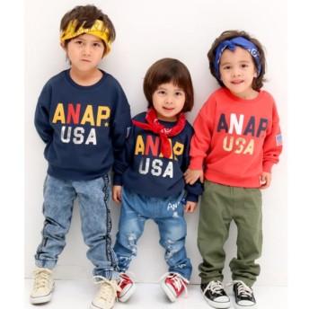 ANAP KIDS アナップキッズ USAロゴBIGトレーナー