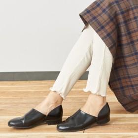 レギンス スパッツ レディース 裾メロウ使いカットソーリブレギンス【M〜5L】 「アイボリー」
