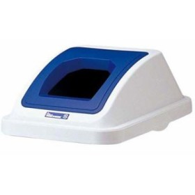 EBM-0599800 カラー分類ボックス45L フタ ペットボトル用 ブルー (EBM0599800)