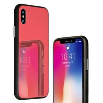アイフォンxケース 赤 衝撃 二重構造 iphone x ケース レッド 女性 ストラップ red 衝撃吸収 かわいい ハード 薄型 アイフォン10...