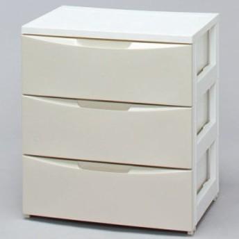 アイリスオーヤマ 4905009964086 ワイドチェスト COD-553 ホワイト/アイボリー