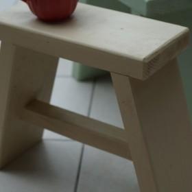 ハンドメイド家具 花台 イス チェア 子供椅子 プランター台 白