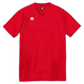 DESCENT(デサント)V首半袖ゲームシャツ(ユニセックス) DSS-4321 DSS4321-RED レッド