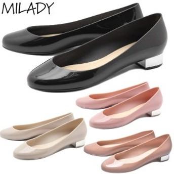 MILADY(ミレディ―) ラバーシューズ パンプス レインシューズ ML103(RO)【レディース】