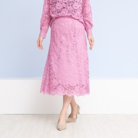 ルージュ・ヴィフ ラクレ(Rouge vif la cle)/カラーレーススカート