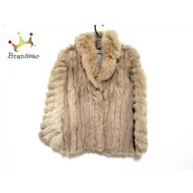 サガフォックス SAGA FOX コート サイズ11 M レディース ライトブラウン ファー/冬物    値下げ 20190307