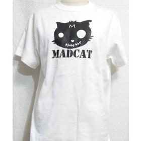 プリント半袖Tシャツ「MADCAT」黒猫(受注生産品)サイズS XL