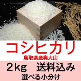 30年産 鳥取県日野産コシヒカリ/こしひかり奥大山2kg便利な選べる小分け