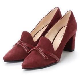 アンタイトル シューズ UNTITLED shoes リボンパンプス (ワインヌバック)